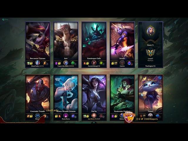 League of Legends Scrimmage Match with MCU (04/10/2020) - CSUDH Esports
