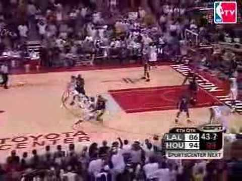 Steve Francis 2 Great Plays vs Los Angeles Lakers in 2004 NBA Playoffs