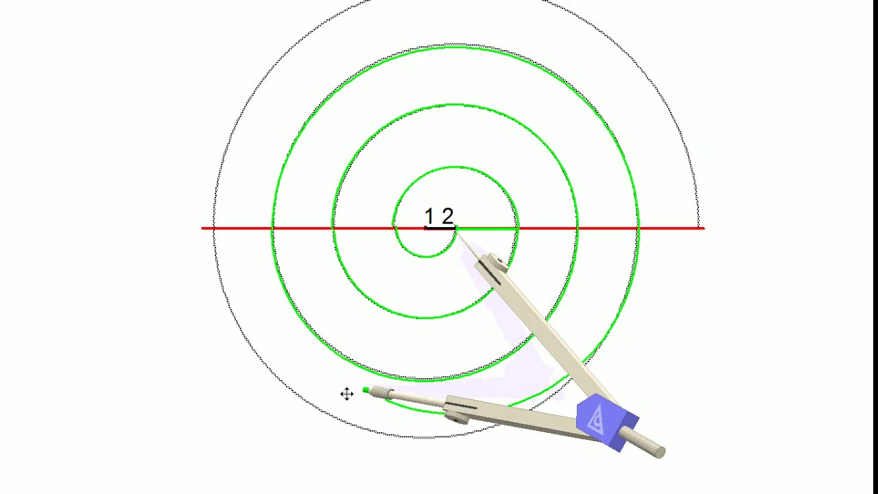 Volante caracol con regla y compas de 2 puntos - YouTube