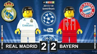 Real Madrid vs Bayern 2-2 • Semi-finals Champions League 2018 (01/05) Goals Highlights Lego Football