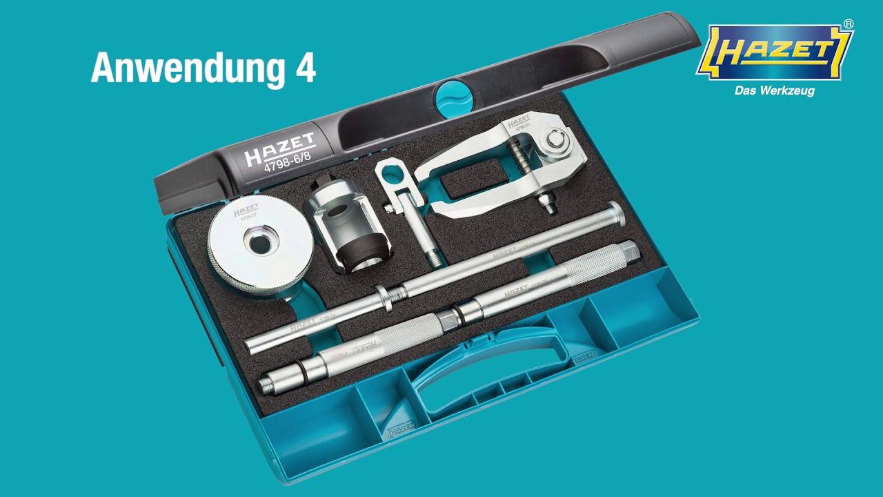 Injektor Abzieher Demontage Werkzeug Satz 11 tl Schlaghammer Bosch Denso Siemens