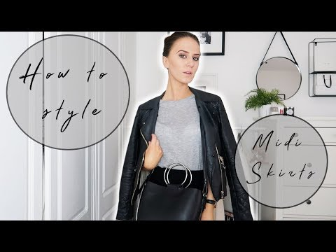 bf6af7a971 How To Style Midi Skirts | Casual LookBook - YouTube