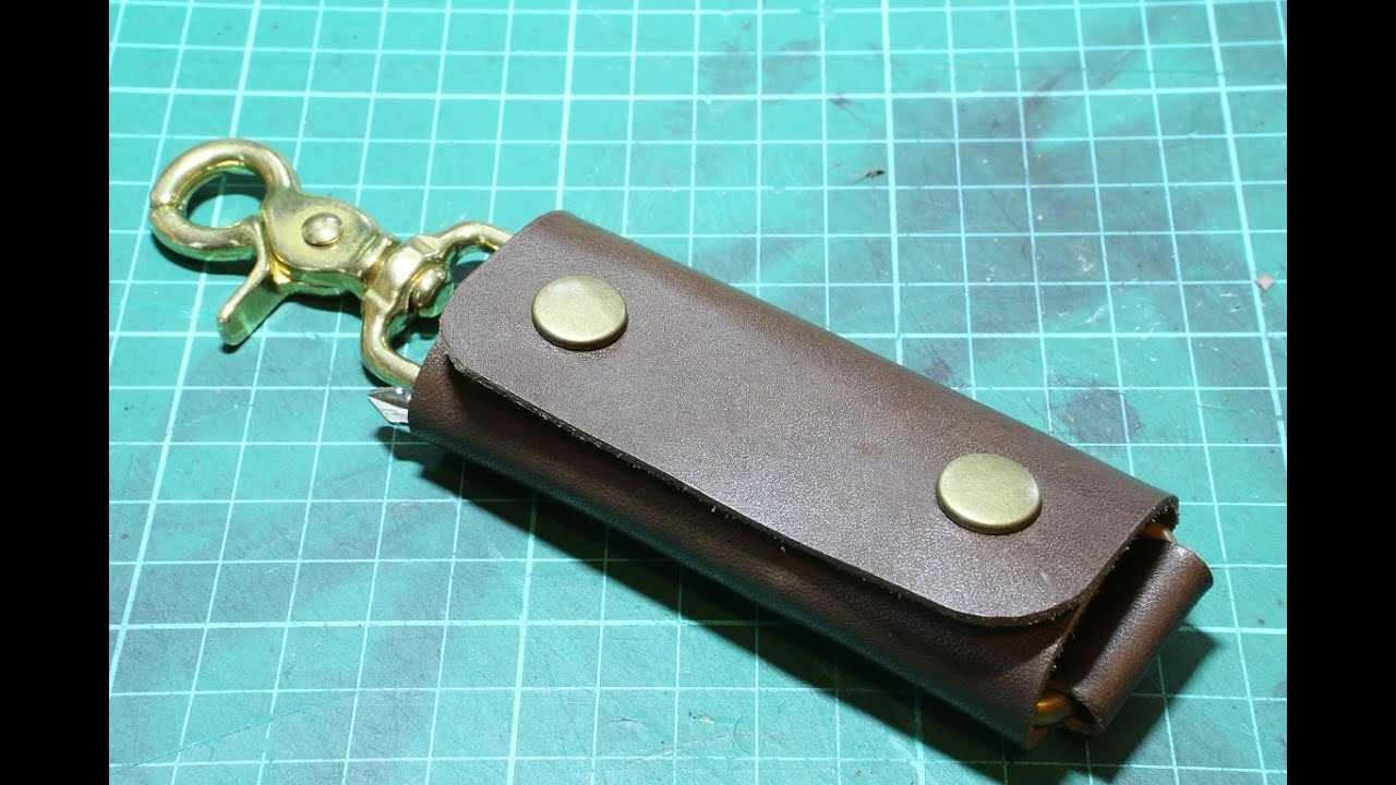 making a simple leather key holder youtube