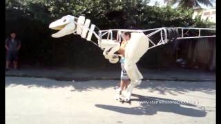 I made a Velociraptor Suit by Fábio Silva