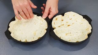 5 INTERESTING RECIPES FROM REGULAR LAVASH (thin pita bread)