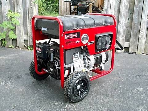 My New Craftsman Generator with Briggs & Stratton Engine