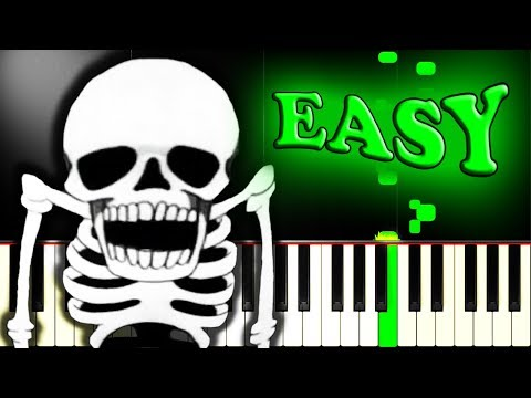 SPOOKY SCARY SKELETONS - Easy Piano Tutorial