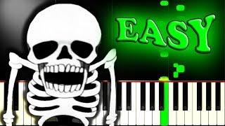 SPOOKY SCARY SKELETONS - Easy Piano Tutorial