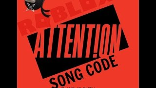 Roblox - Charlie Puth Attention Song Code ID