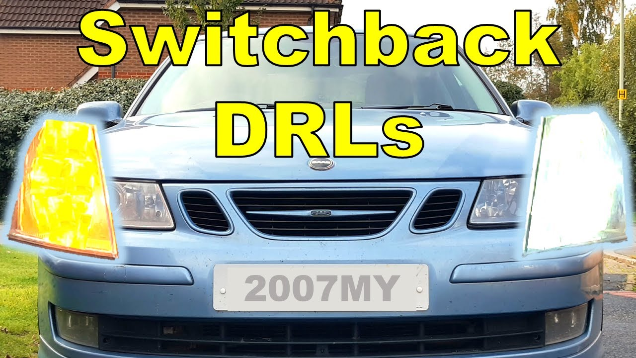 Daytime Running Lights DRL Auto Switch Relay Dim Dimming Indicator For Saab