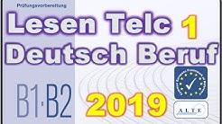 Modelltest (1) B1-B2 Beruf Lesen Deutsch
