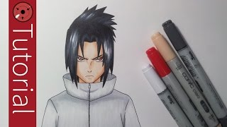 How To Draw Sasuke Uchiha - Drawing Tutorial