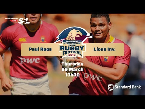 St John's Rugby Festival 2018 - Paul Roos vs Lions Inv, 29 March
