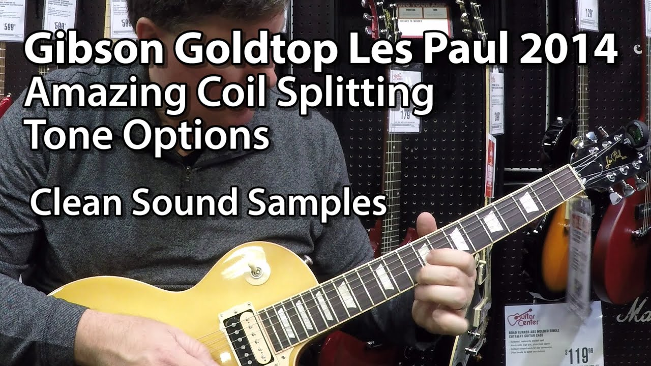 Gibson goldtop les paul 2014 model with coil splitting sound gibson goldtop les paul 2014 model with coil splitting sound samples sciox Images