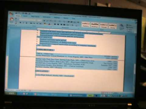 COPY AND PASTE A COVER LETTER AND RESUME INTO AN EMAIL 021811 - YouTube