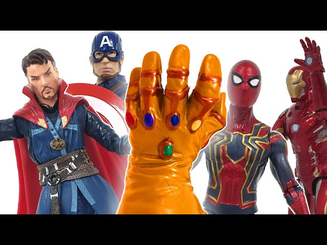 Iron Man Spider-Man! Defeat Thanos with magical pictures! ❤️ RACHAMAN TOY