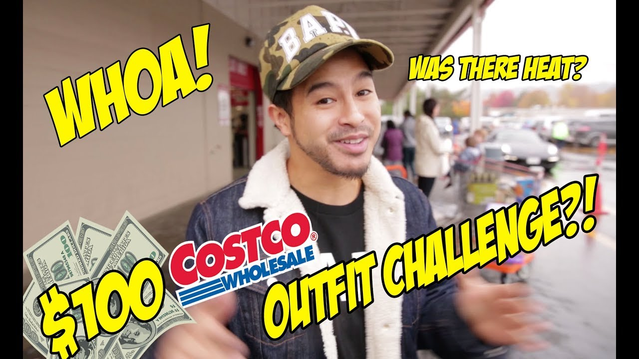 $100 COSTCO OUTFIT CHALLENGE! WHAT DID WE FIND?!