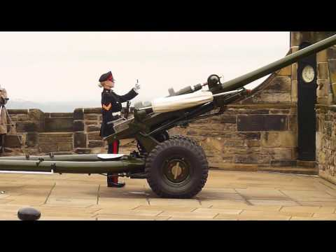 The One o'clock Gun at Edinburgh Castle