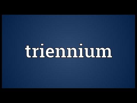 Header of triennium