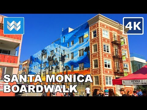 Walking from Santa Monica Beach to Venice Beach in Los Angel