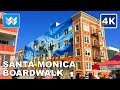 Walking from Santa Monica Beach to Venice Beach in Los Angeles, California 【4K】