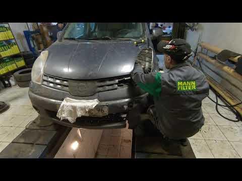 Экспресс-ремонт Nissan Note. Перевернулись по дороге в Первоуральск.