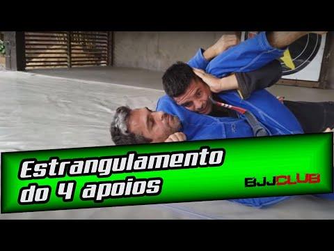 Estrangulamento do 4 apoios com Fabio Duarte - Jiu Jitsu - BJJCLUB