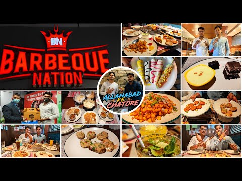 Unlimited Fooding At Barbeque Nation    Prayagraj Outlet    Jai And Ayush