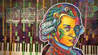 Synthesia: MOZART ON DRUGS (Turkish March) | 28,000+ Notes | Black MIDI