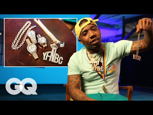 YFN Lucci Shows Off His Insane Jewelry Collection | GQ