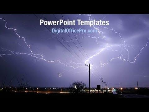 Lightning Strike PowerPoint Template Backgrounds DigitalOfficePro 01647W YouTube