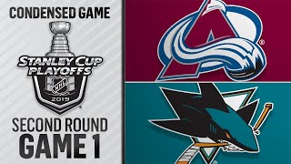 04/26/19 Second Round, Gm1: Avalanche @ Sharks
