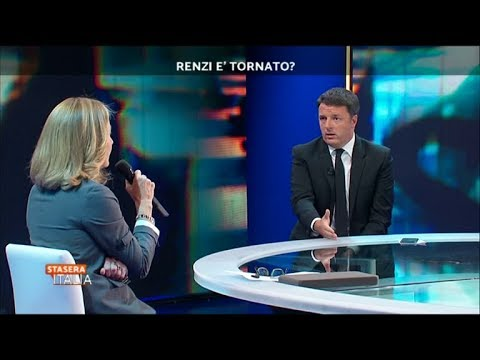 Matteo Renzi ospite di Stasera Italia con Barbara Palombelli