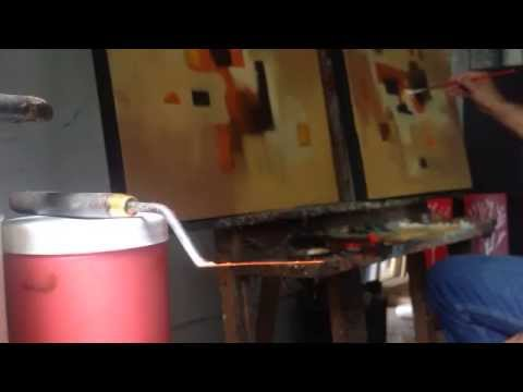 Como pintar un cuadro abstracto abstract painting youtube for Como pintar un cuadro abstracto