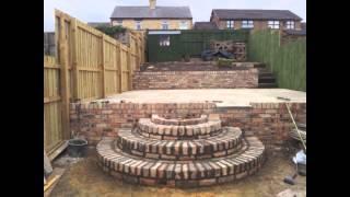 Monday 22nd April 2013 Highfield Landscape Extras Round Brick Steps