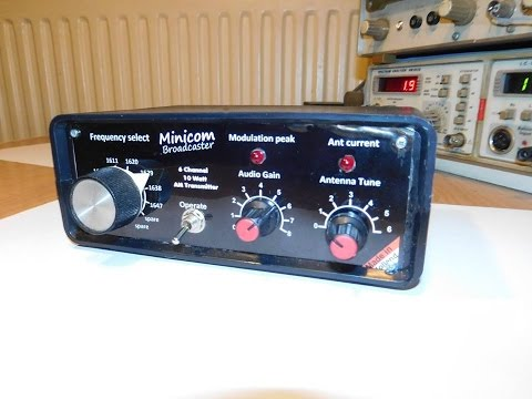 Demonstration of my new Minicom broadcaster