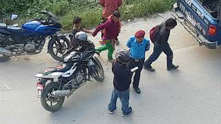 Nepal traffic police checking