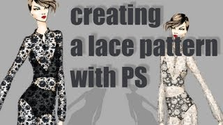 how to create a pattern in PS: white lace (advanced)