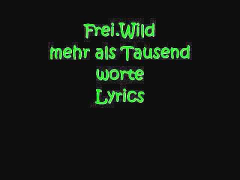 Frei Wild - 1000 Worte