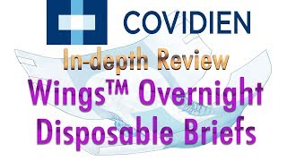 Covidien® Wings™ Overnight Briefs Adult Diaper  In-Depth Review #incontinence #adultdiaper