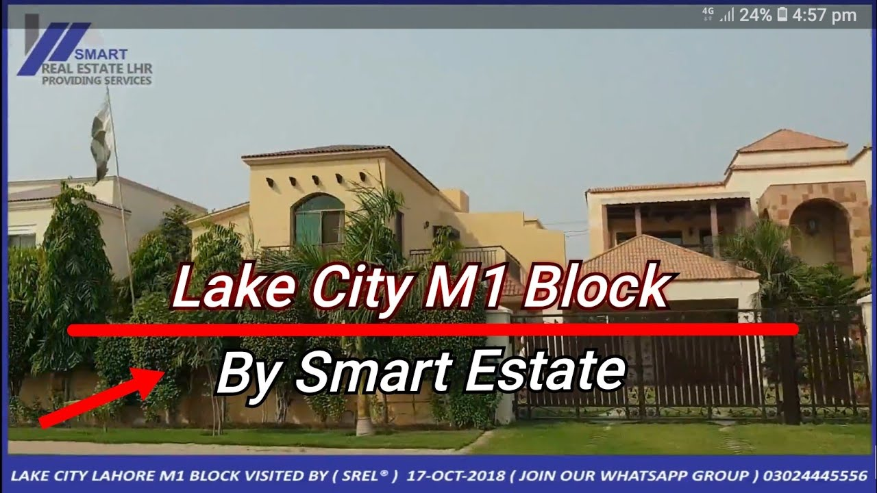 LAKE CITY LAHORE M1 BLOCK VISITED BY ( SREL® ) 17-OCT-2018