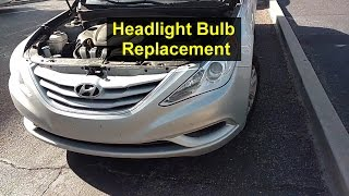 Headlight light bulb replacement on a Hyundai Sonata - REMIX