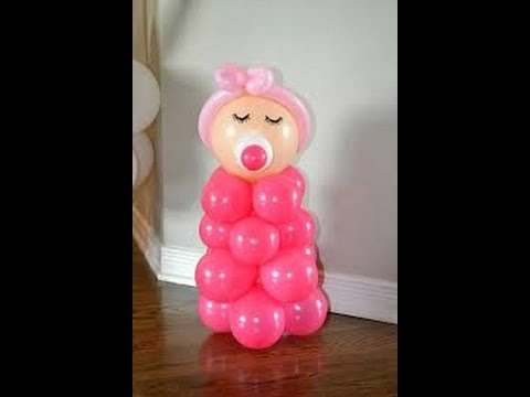 Decoracion con globos para baby shower youtube - Decorar con globos ...