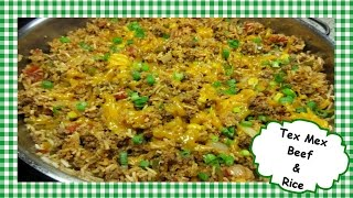 How to Make TEX MEX Ground Beef & Rice ~ One Pot Tex Mex Recipe
