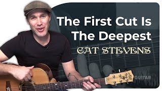 How to play The First Cut Is The Deepest by Cat Stevens (Guitar Lesson SB-417)
