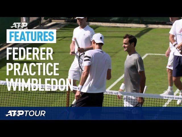 WIMBLEDON | Roger Federer Practice Session