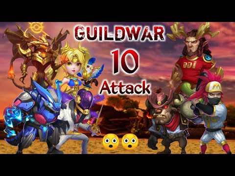 Guildwar | Killing Hero This Time | Also One Shot Mino | 10 Attack | Castle Clash