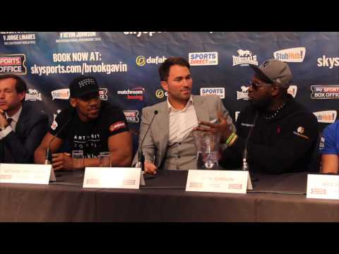 KEVIN 'KINGPIN' JOHNSON STOPS PRESS CONFERENCE TO ASK ANTHONY JOSHUA 'ONE QUESTION' / RULE BRITANNIA