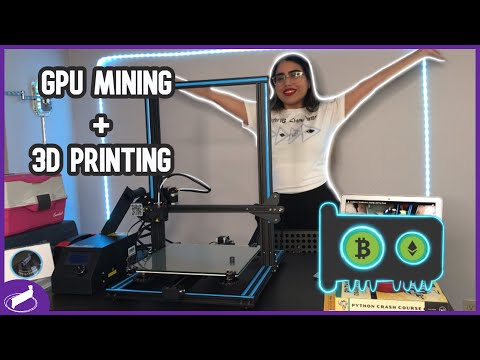 Useful 3D Printed GPU Mining Rig Items & Creality CR-10 assembly |#MCORIGINALS