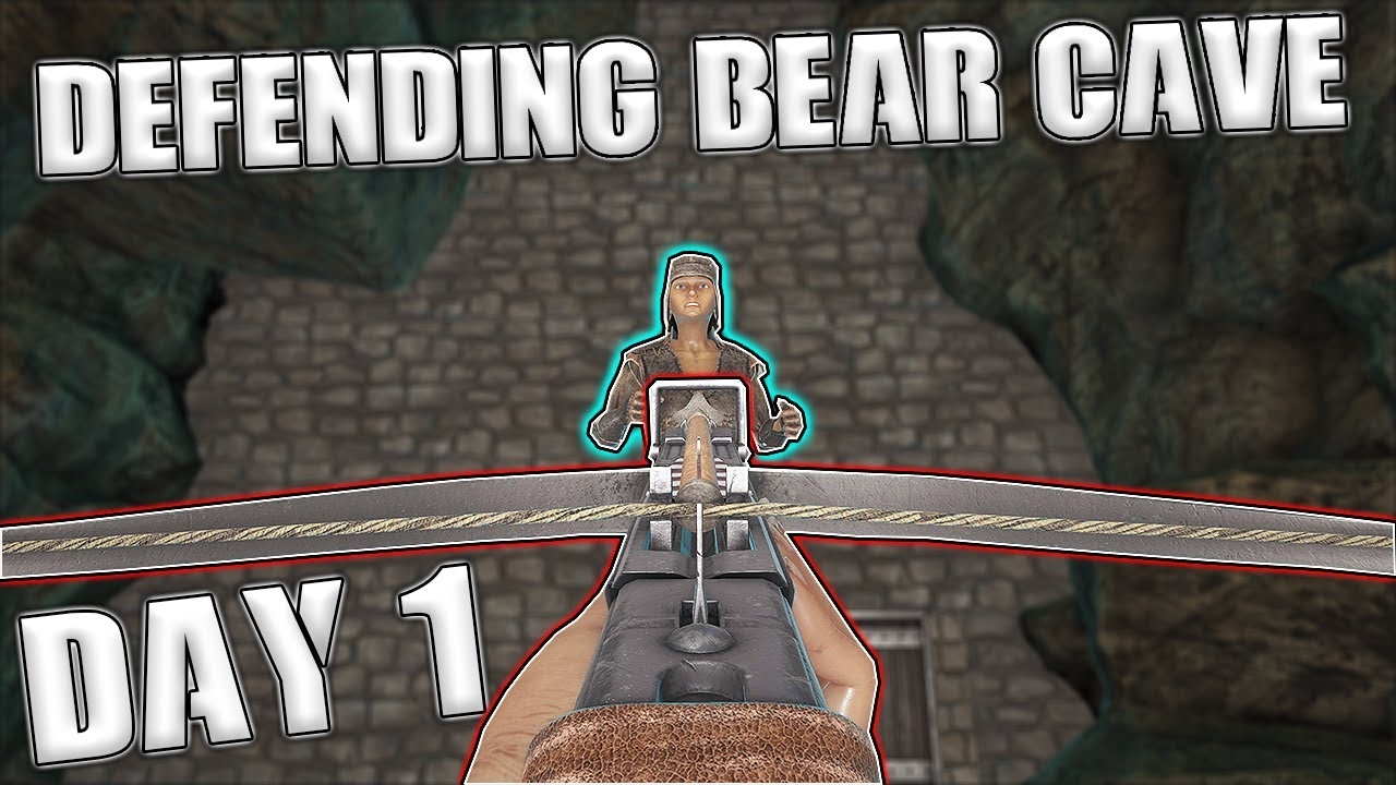 DEFENDING BEAR CAVE SOLO DAY 1 - MTS MAIN CLUSTER S6 Ep 2 - Ark: Survival Evolved
